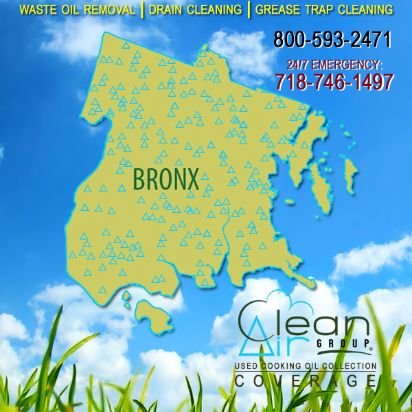 Bronx Used Cooking Oil Collection Coverage