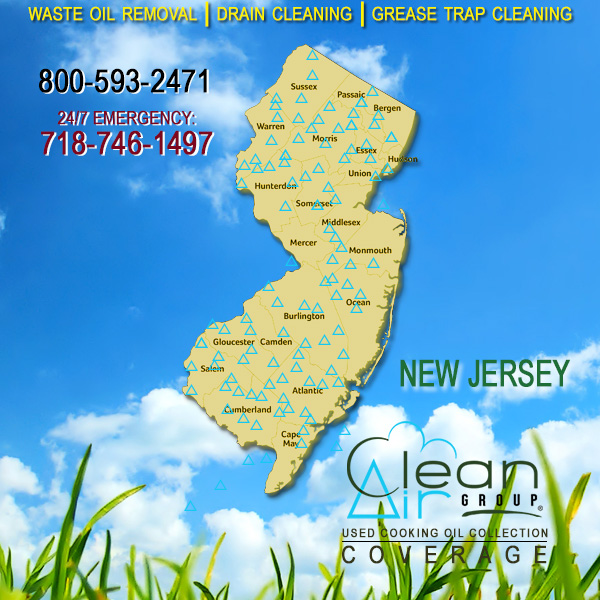 New Jersey Used Cooking Oil Collection